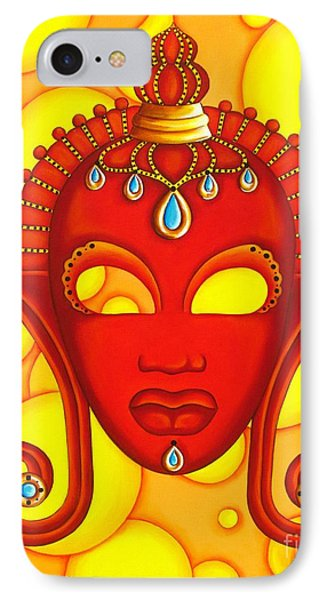 Nubian Modern Mask Red IPhone Case by Joseph Sonday