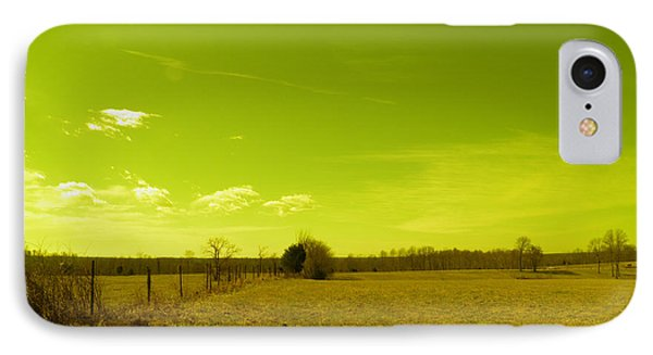 IPhone Case featuring the photograph Nuclear Fencerow by Nick Kirby