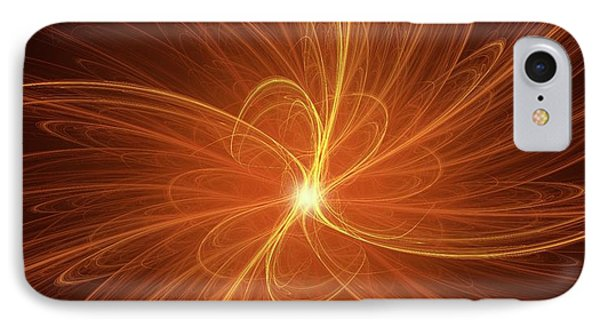Nuclear Fusion Concept Illustration IPhone Case by David Parker