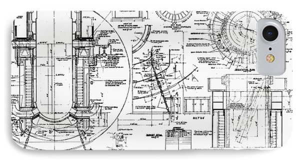 Nuclear Power Plant Components, Diagram IPhone Case by Library Of Congress