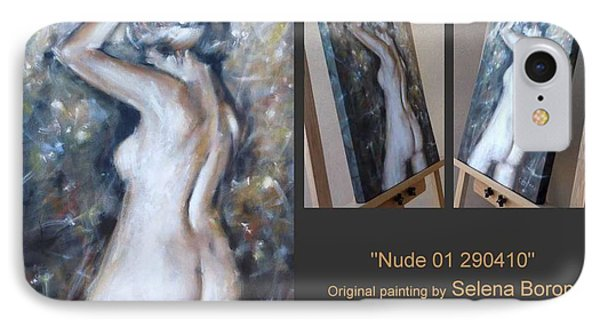 IPhone Case featuring the painting Nude 01 290410 by Selena Boron