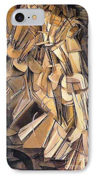 Nude Descending A Staircase Phone Case by Pg Reproductions