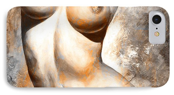 Nude Details - Digital Color Version Rust IPhone Case by Emerico Imre Toth