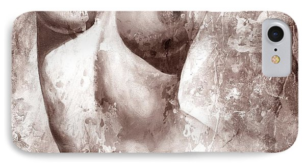 Nude Details - Digital Gray Color Version IPhone Case by Emerico Imre Toth