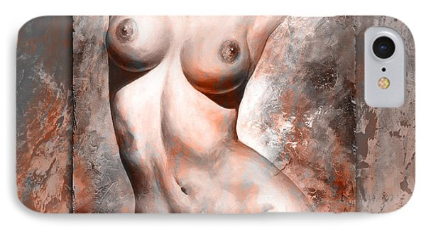 Nude Details Style Version Brick And Gray IPhone Case by Emerico Imre Toth