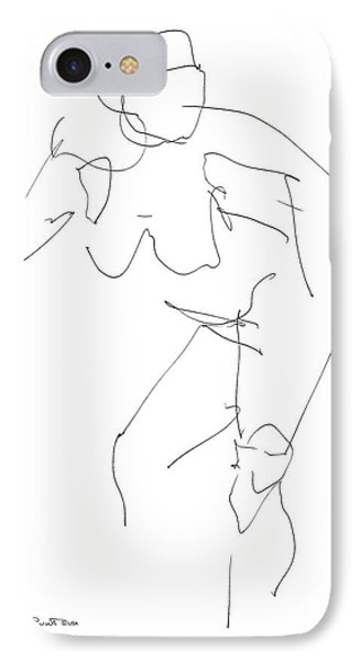 Nude Female Drawings 14 Phone Case by Gordon Punt