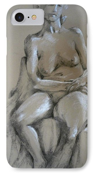 Nude Female IPhone Case by Joan  Jones