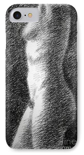 Nude Female Torso Drawings 6 Phone Case by Gordon Punt