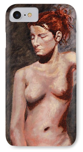 Nude French Woman Phone Case by Shelley Irish