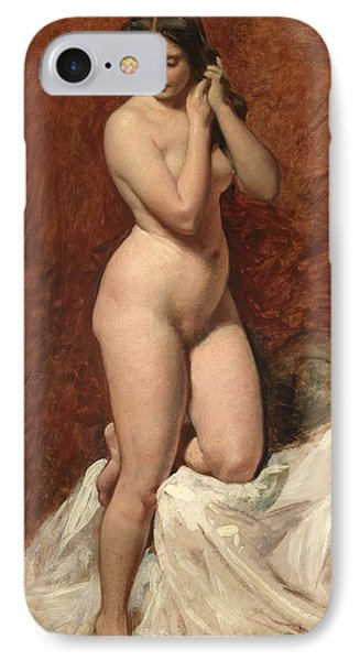 Nude From The Front Phone Case by William Etty