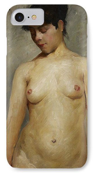 Nude Girl IPhone Case by Lovis Corinth