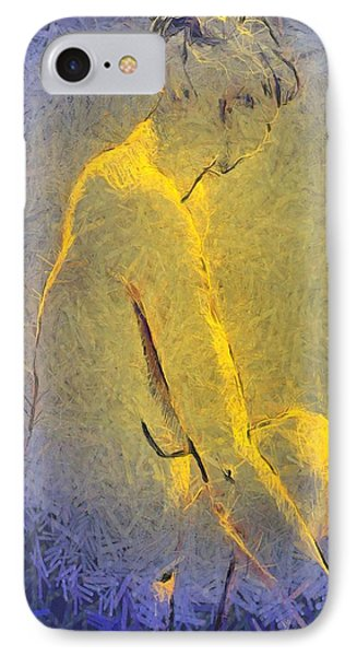 IPhone Case featuring the painting Nude Iv by Dragica  Micki Fortuna