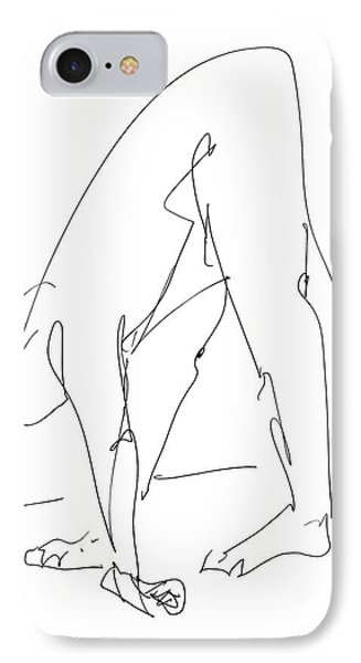 Nude Male Drawings 32 IPhone Case by Gordon Punt