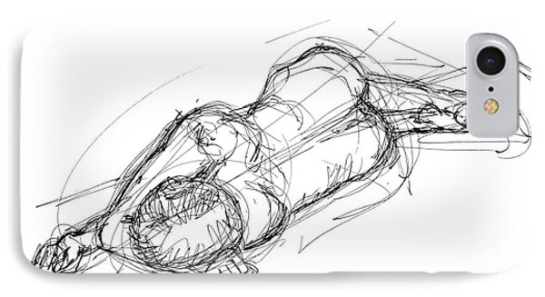 Nude Male Sketches 4 Phone Case by Gordon Punt