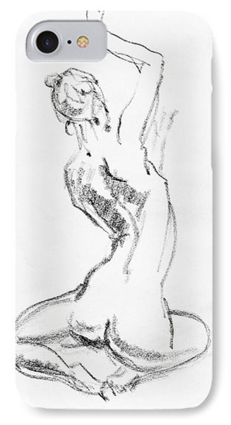 Nude Model Gesture V IPhone Case