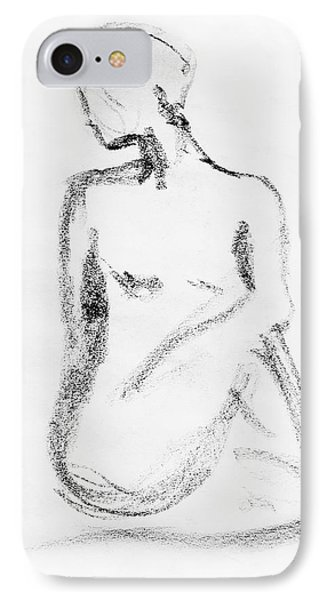 Nude Model Gesture Vi IPhone Case by Irina Sztukowski