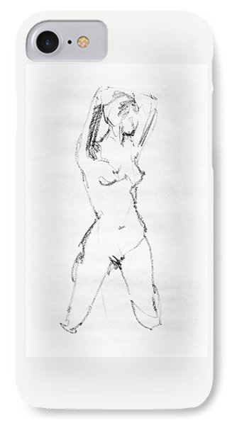 Nude Model Gesture Vii IPhone Case