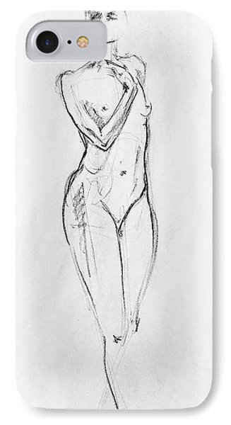 Nude Model Gesture Viii IPhone Case