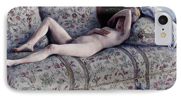 Nude On A Couch IPhone Case by Gustave Caillebotte
