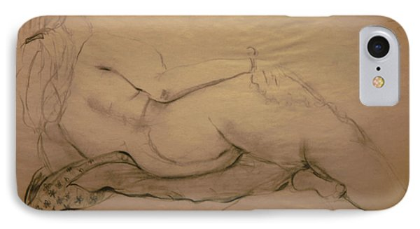 Nude On Blanket IPhone Case by Gabrielle Schertz