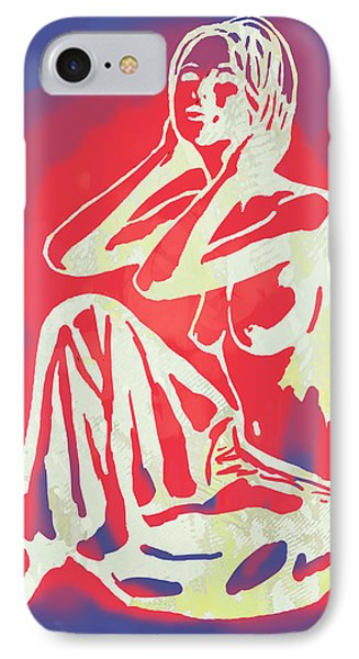 Nude - Pop Art Etching Poster 2 IPhone Case