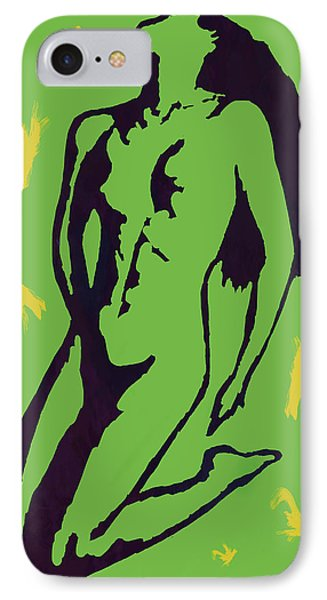 Nude - Pop Art Etching Poster 8 IPhone Case