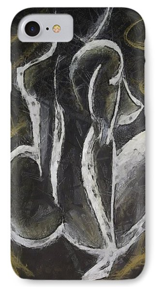IPhone Case featuring the drawing Nude  Vii by Dragica  Micki Fortuna