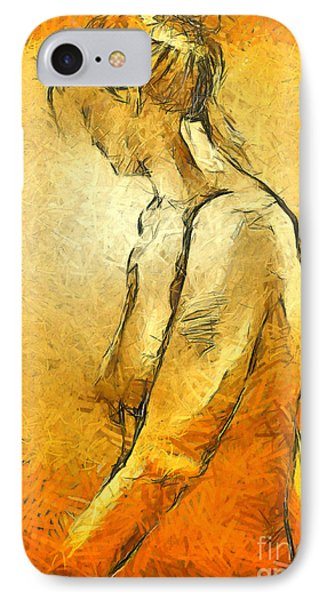 IPhone Case featuring the painting Nude Viii by Dragica  Micki Fortuna
