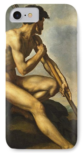 Nude Warrior With A Spear IPhone Case by Theodore Gericault