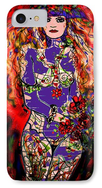 Nude With Flowers Phone Case by Natalie Holland