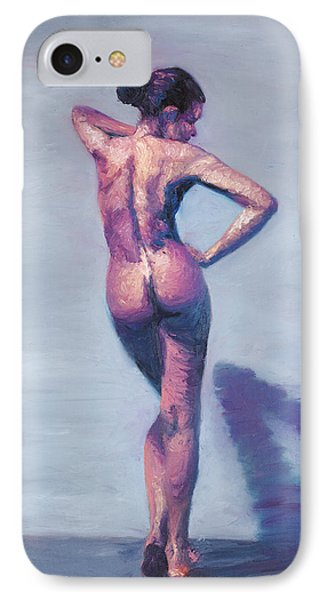 Nude Woman In Finger Strokes Phone Case by Shelley Irish
