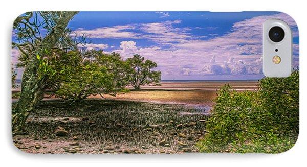 Nudgee Beach Queensland  Australia Phone Case by Donah Beckhouse