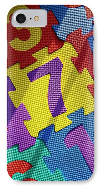 Numbered Tiles IPhone Case by Mark Williamson