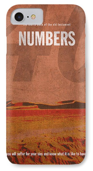 Numbers Books Of The Bible Series Old Testament Minimal Poster Art Number 4 IPhone Case by Design Turnpike