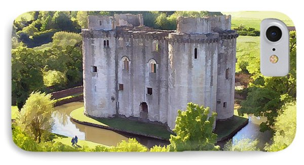 Nunney Castle Painting IPhone Case by Ron Harpham