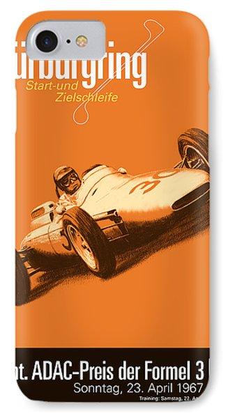 Nurburgring F3 Grand Prix 1967 IPhone Case by Georgia Fowler