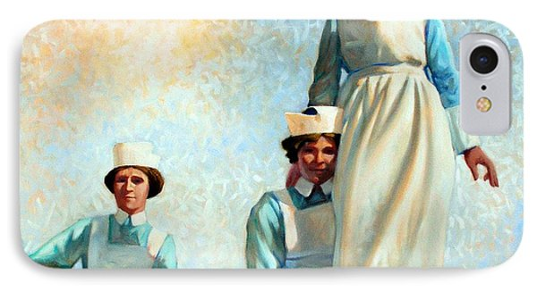 Nurse's Holiday Phone Case by Kevin Lawrence Leveque