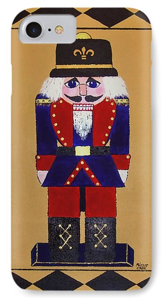 IPhone Case featuring the painting Nutcracker Floor Cloth Sgt. Blue by Cindy Micklos