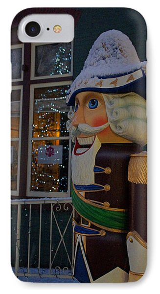 Nutcracker Statue In Downtown Grants Pass Phone Case by Mick Anderson