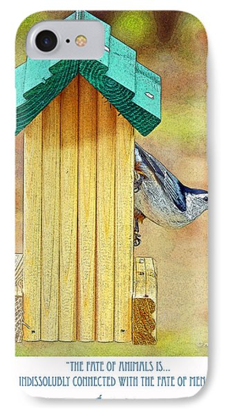 Nuthatch On Bird Feeder IPhone Case by A Gurmankin