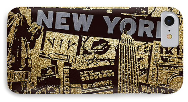 Ny City Collage - 9 IPhone Case by Corporate Art Task Force