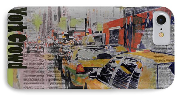 Ny City Collage 2 IPhone Case by Corporate Art Task Force