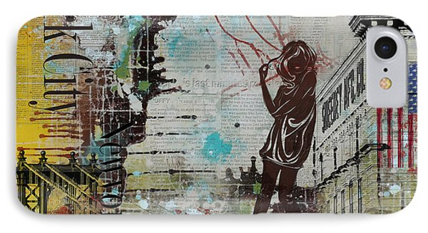 Ny City Collage 4 IPhone Case by Corporate Art Task Force