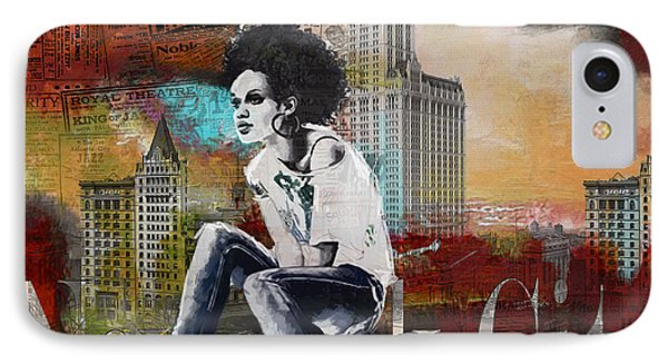 Ny City Collage 5 IPhone Case by Corporate Art Task Force