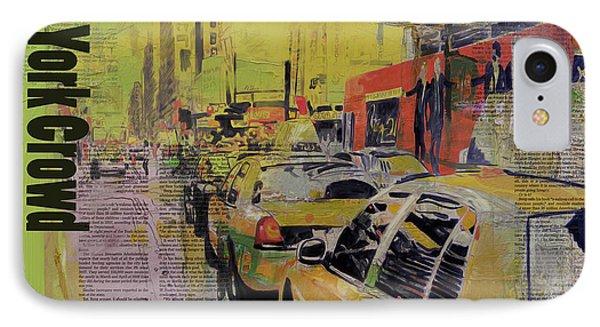 Ny City Collage Phone Case by Corporate Art Task Force