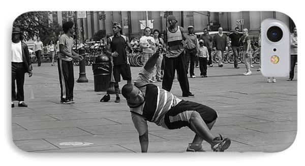 IPhone Case featuring the photograph Ny City Street Performer by Angela DeFrias