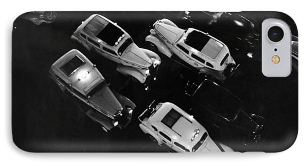 Ny Taxis On A Rainy Night IPhone Case by Underwood Archives
