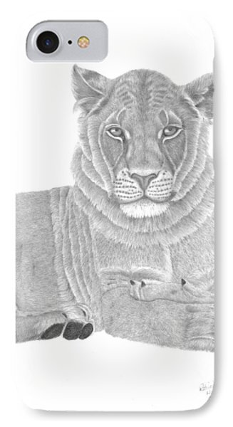 Nyah The Lioness IPhone Case by Patricia Hiltz