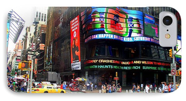 Nyc Abc Studios Times Square IPhone Case by Cleaster Cotton