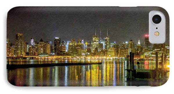 Nyc At Night Faux Oil IPhone Case